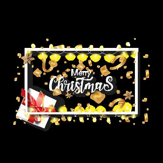 Christmas Greeting Card – Transparent Background, Digital Download
