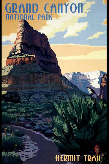 The National Park Grand Canyon Vintage Poster, Travel Wall Art Digital Download