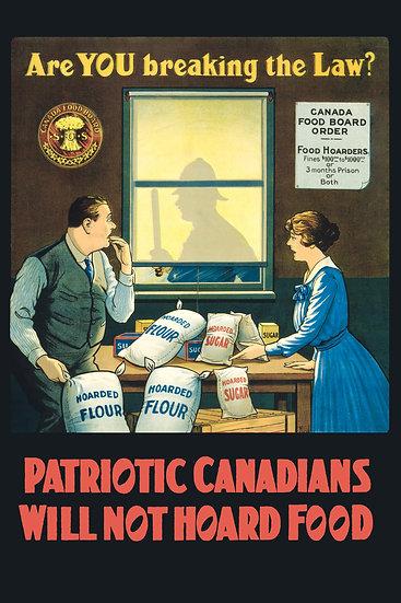 "WW1 Canadian Food Propaganda ""Are You Breaking the Law?"" Digital Download"