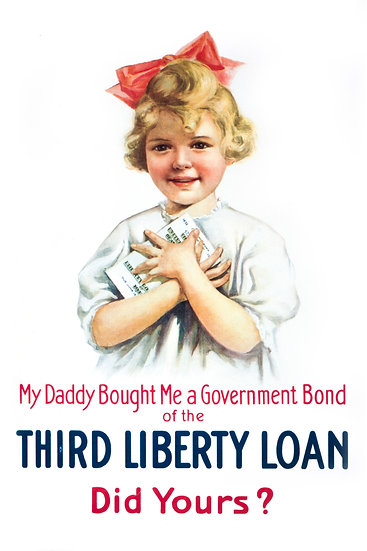 WW1 American 3rd Liberty Loan Propaganda Poster Digital Download