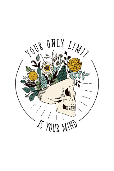 """Motivational Quote Poster """"Your Only Limit is Your Mind"""" Digital Download"""