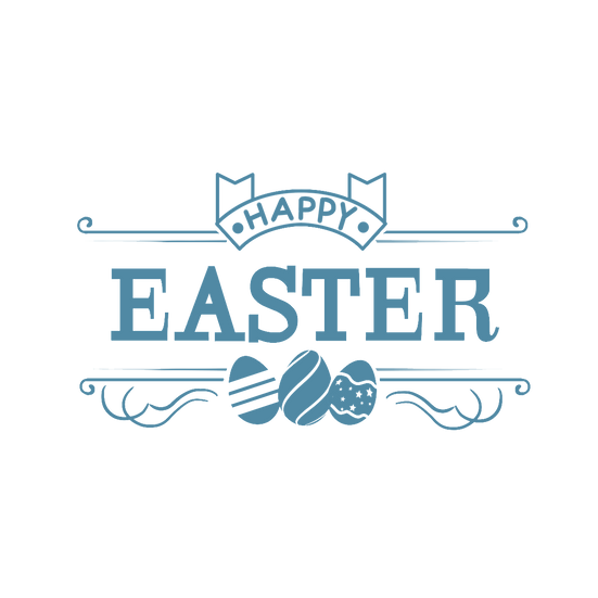 Happy Easter Awesome Clipart - Easter PNG Transparent Image - Instant Download