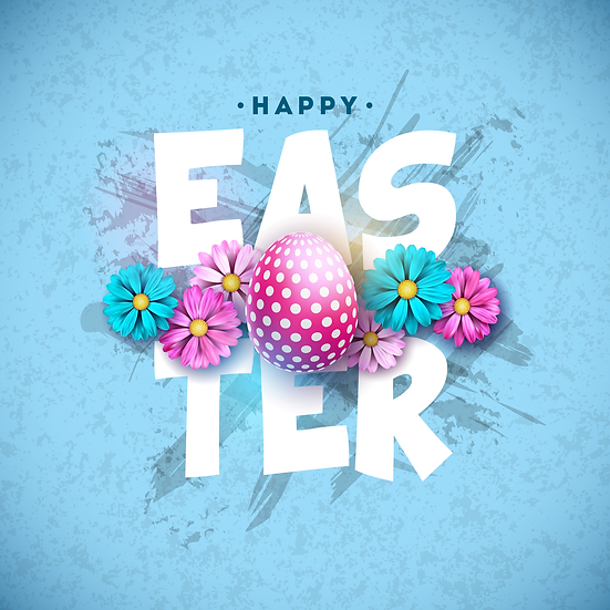 Happy Easter Amazing Greeting Card - PNG Image - Instant Download