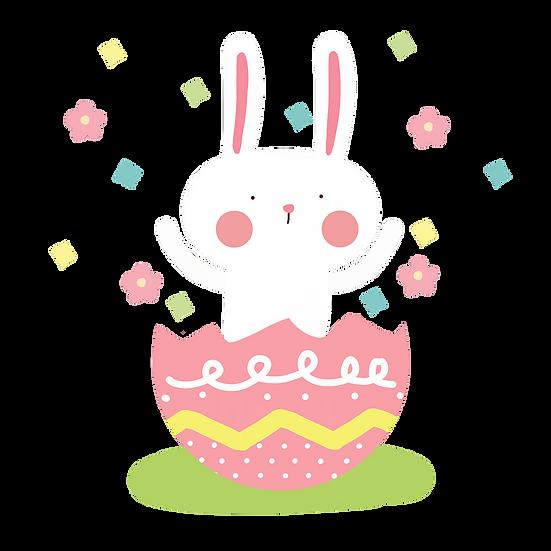 Easter Bunny Festive Clipart - Easter PNG Transparent Image - Instant Download