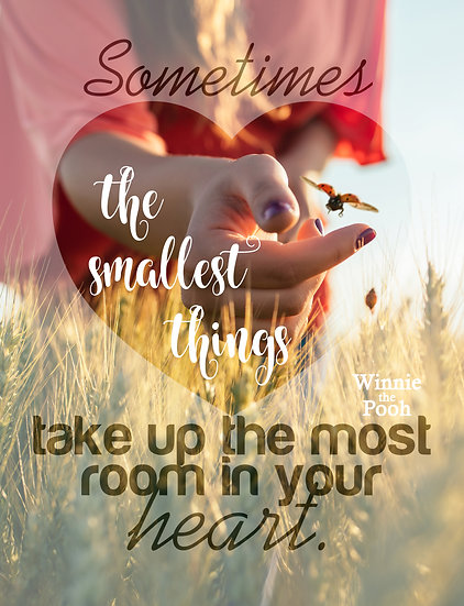 """Winnie the Pooh Quote Print """"The Smallest Things"""" Digital Download"""