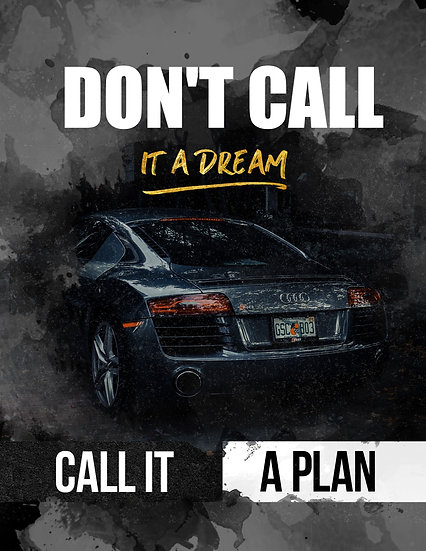 """Inspiring Quote Poster """"Don't Call It a Dream. Call it a Plan"""" Digital Download"""