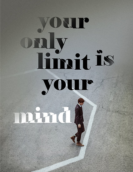 """Inspirational Poster """"Your Only Limit is Your Mind"""" Digital Download"""