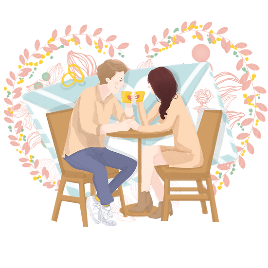 Morning Date - Valentine's Day PNG Transparent Image - Instant Download