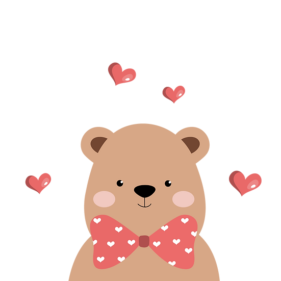 Cute Teddy Bear - Valentine's Day PNG Transparent Image - Instant Download