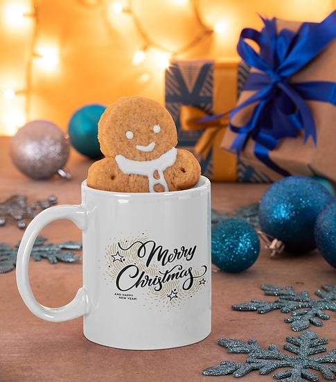 Merry Xmas and Happy New Year Mug for Coffee / Tea, White Ceramic 7
