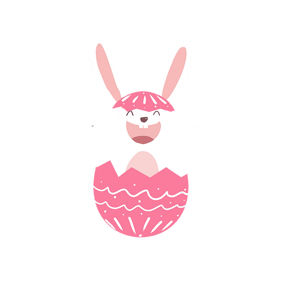 Excited Easter Bunny Clipart - Easter PNG Transparent Image - Instant Download