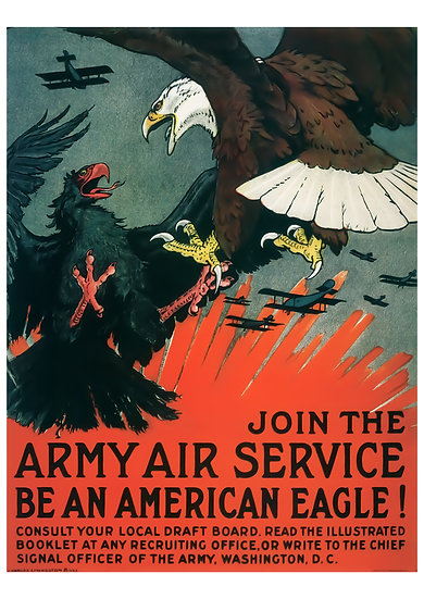 """WW1 US Poster """"Join the Army Air Service Be an American Eagle"""" Digital Download"""