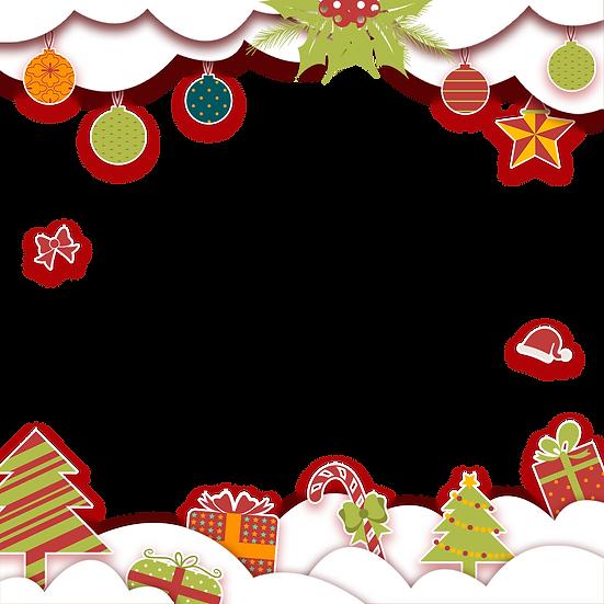Festive Christmas Frame – Digital Poster, Digital Download