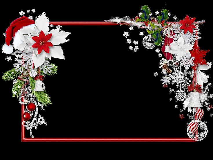 Beautiful Christmas Frame – Transparent Background, Digital Download