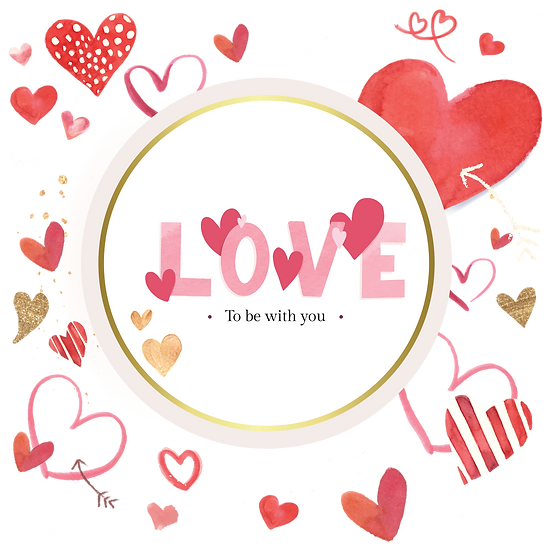 Love to Be with You - Valentine's Day PNG Transparent Image - Instant Download