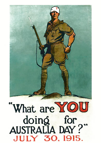WW1 Australian Propaganda What Are YOU Doing for Australia Day? Digital Download