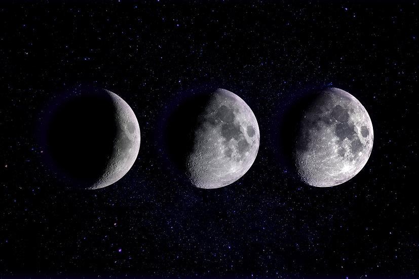 Moon Print, Moon Phase Poster, Moon Phases Wall Art Digital Download