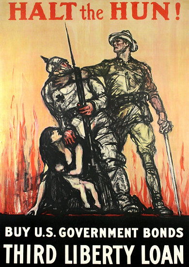 "WW1 US Poster ""Halt the Hun! Buy U.S. Government Bonds"" Digital Download"