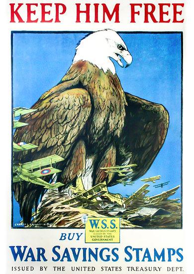 WWI Airplanes Propaganda, WW1 US War Bonds Propaganda Poster Digital Download