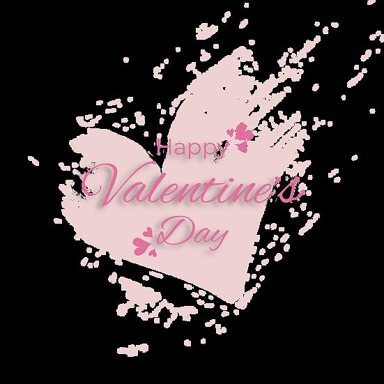 Happy Valentine's Day Pink Inscription - PNG Transparent Image, Instant Download