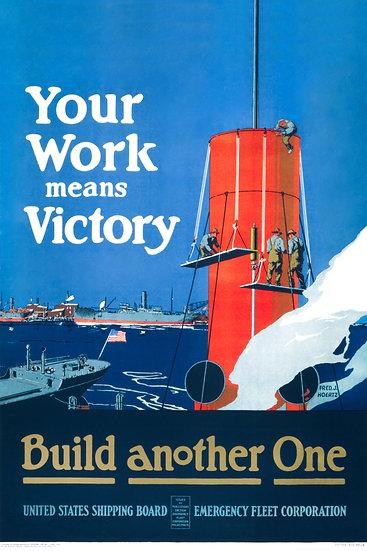 WW1 U-Boat American Propaganda Poster. WWI US Submarine Print Digital Download