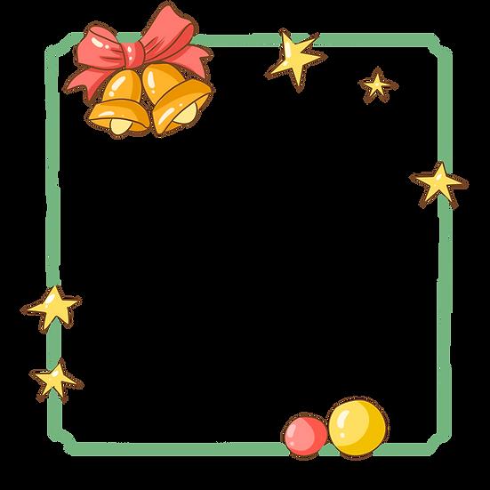 Cute Christmas Frame - Cheap Digital Download, Christmas Frame PNG