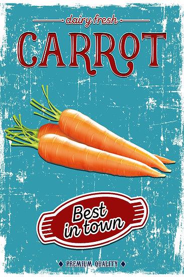 "Farmhouse Wall Art ""Dairy Fresh Carrot - Best in Town"" Digital Download"