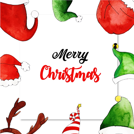 Funny Christmas Greeting Card – Cheap Digital Download, Transparent Background