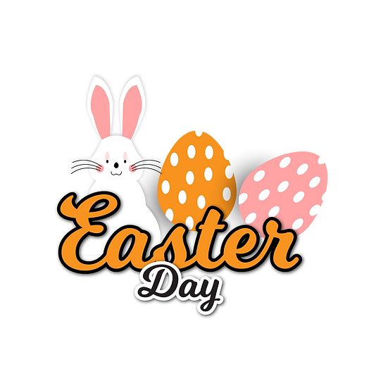 Easter Day Clipart - Easter PNG Transparent Image - Instant Download