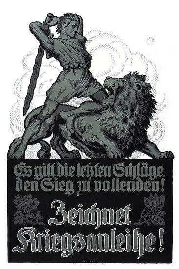 WW1 German Military Loan Propaganda Poster Digital Download