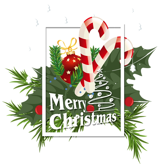 Amazing Christmas Greeting Card - Digital Poster, Transparent Background