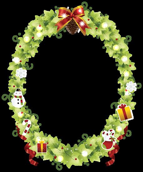 Wonderful Christmas Frame – Transparent Background, Cheap Digital Download