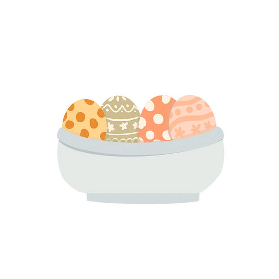 Easter Eggs in a Bowl - Easter PNG Transparent Image - Instant Download