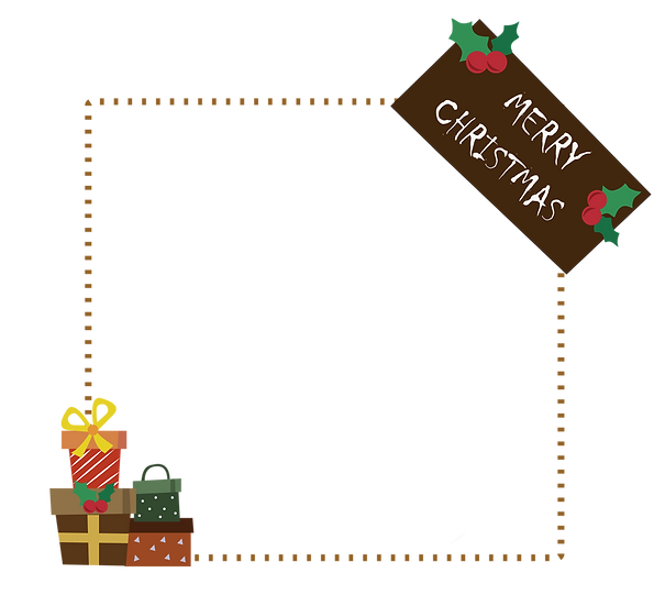 Christmas Gifts Frame – Christmas Frame PNG, Cheap Digital Download