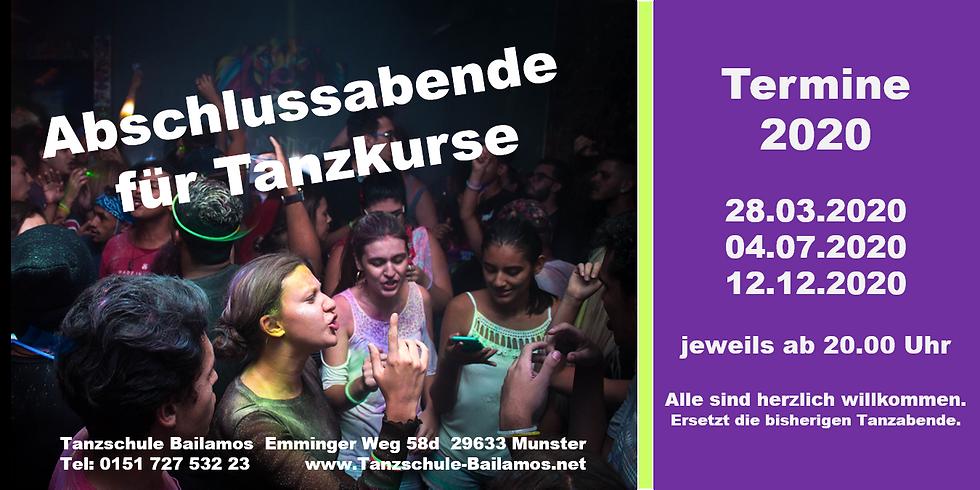 Abschlussabend Tanzkurse IV/2020 + Tanzabend
