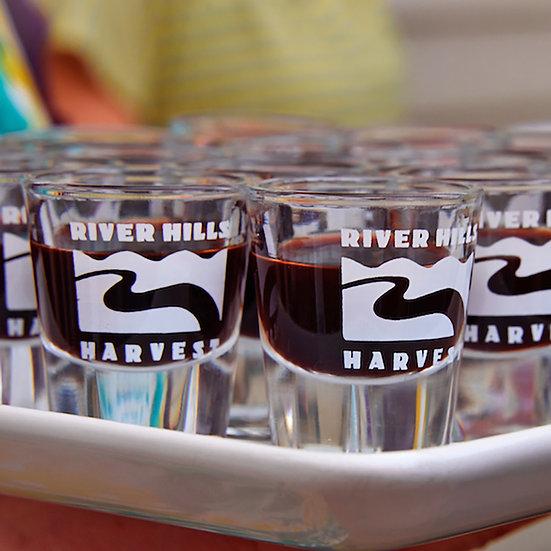 Set of Two River Hills Harvest Shot Glasses