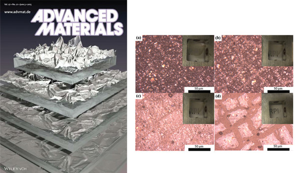 Optical images of graphene oxide film as it transitioned from a fully crumpled to a full flat state (Thomas Abhay V., et al., 2015)