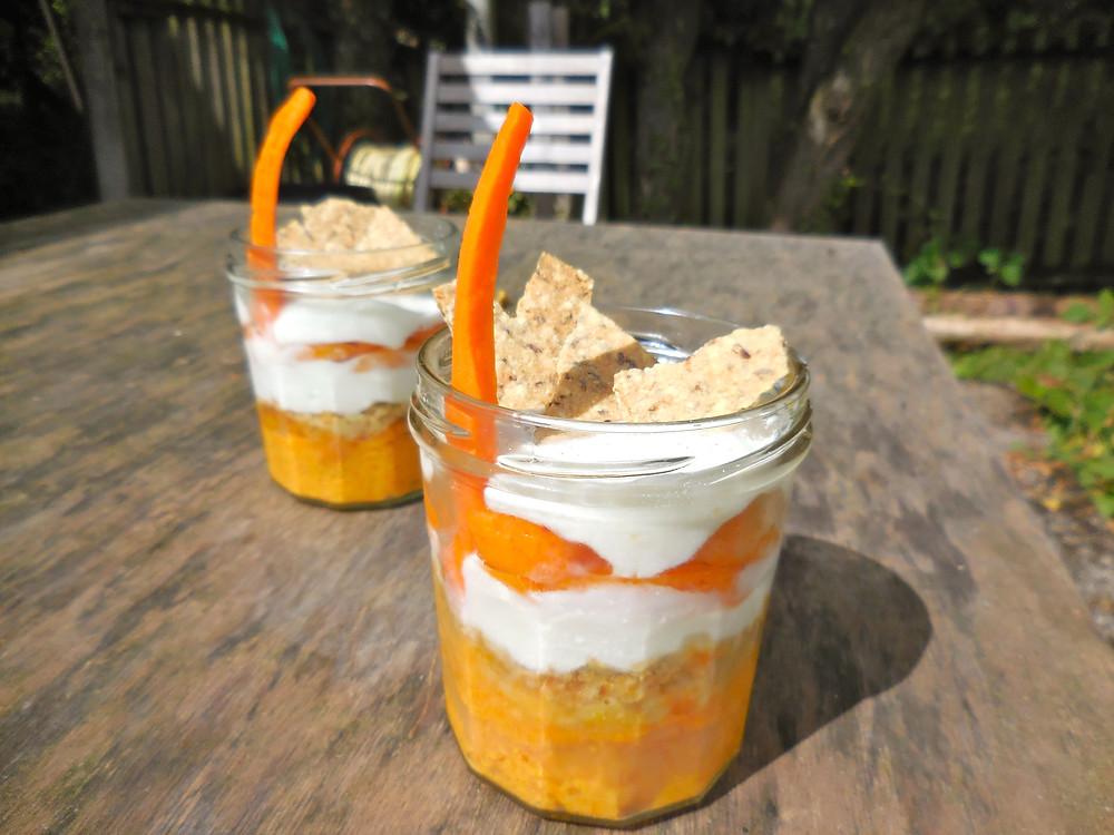 Mason jar carotte abricot