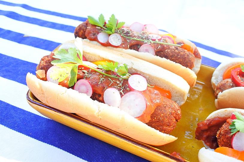 Hot-Dog Vegan { Hot-Beans } Saucisse Vegan Maison