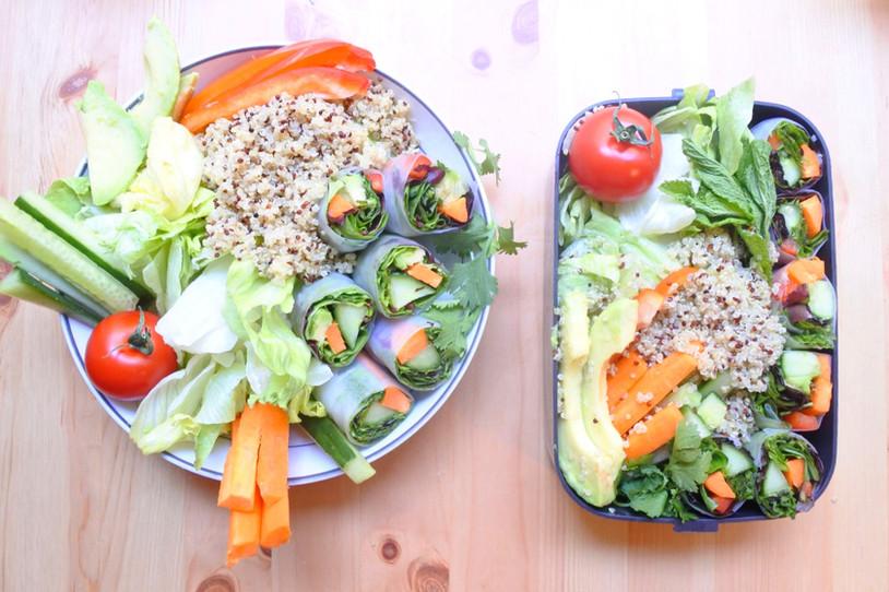 Rouleaux de Printemps Vegan & Sans Gluten { Buddha Bowl }
