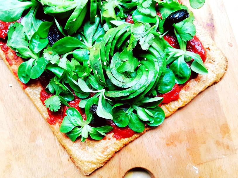 Green Pizza [vegan - sans gluten]