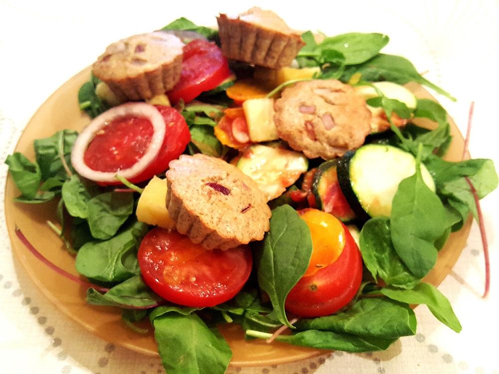 Salade muffin gingembre