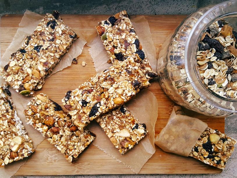 Healthy Granola Bars [Fruits secs et Noix]