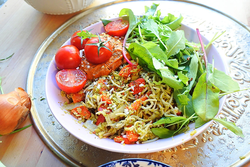 spaghetti vegan aux légumes