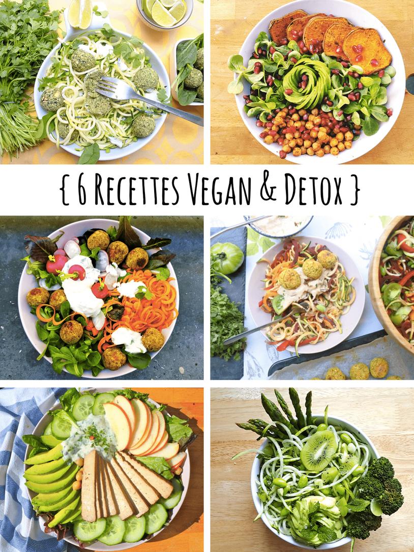 6 Repas Detox { Healthy Vegan }