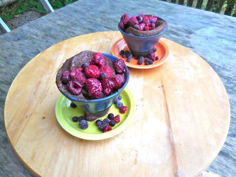 Mug Cake au Chocolat & Fruits Rouges [VGTR]