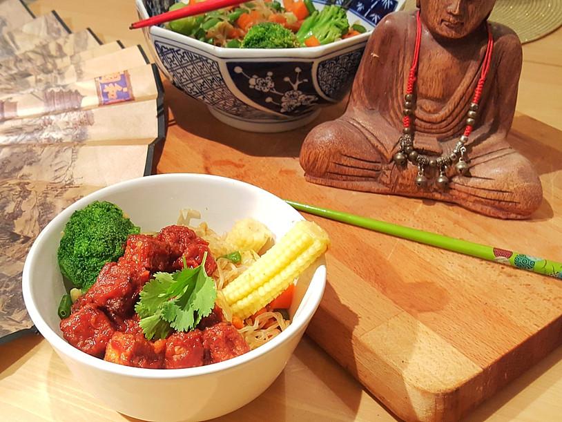 Tofu croustillant nappé de sauce [sans friture]
