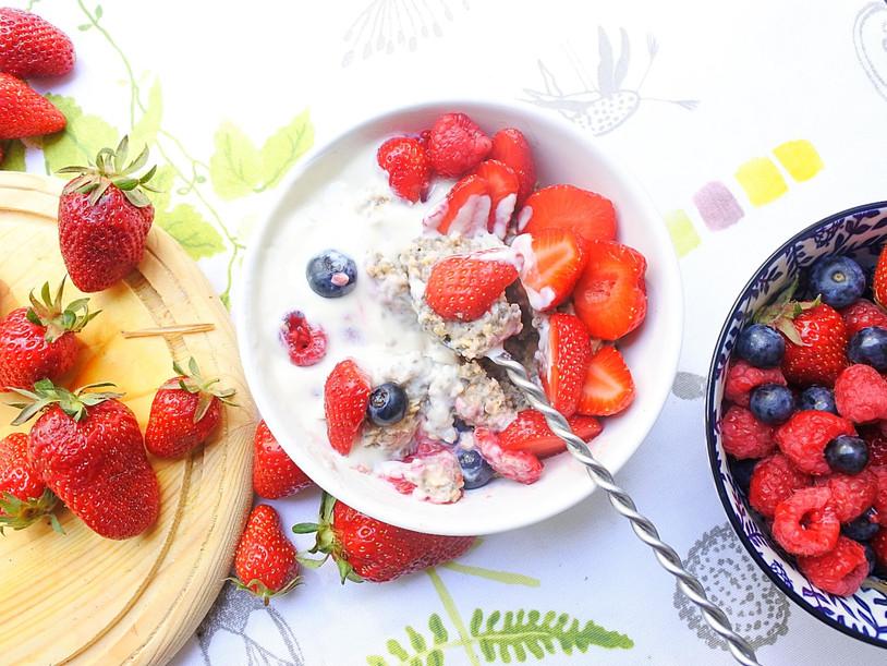 Porridge aux graines de Chia et aux flocons d'avoine
