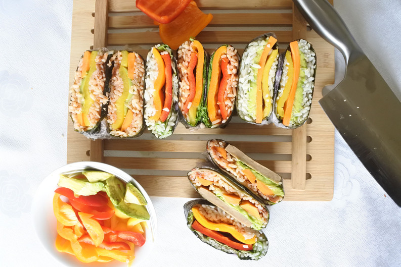 Onigirazu Vegan - Sushi Sandwich