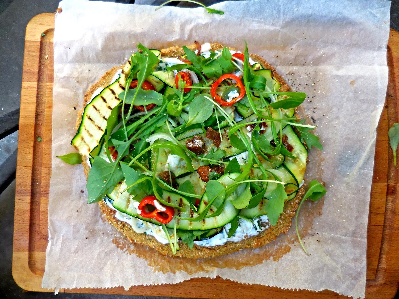 Pizza vegan sans gluten healthy